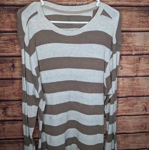 Striped sweater large